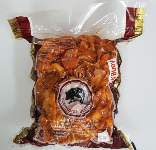 bolsa oreja cocida de cerdo adobada peso 2kg